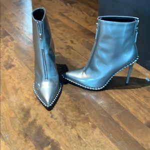 Alexander wang metallic boots